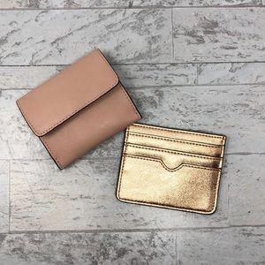 NWOT Set of Express Blush & Rose Gold Card Holders